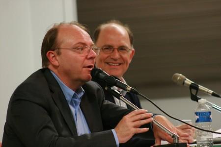 Avec Yves MATHIEU le Directeur de Missions Publiques - Photo L.P.