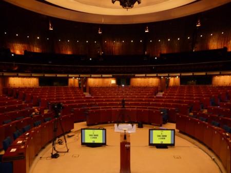 Le très bel hémicycle du Conseil de l'Europe