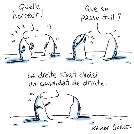 Dessin de Xavier Gorce Le Monde.fr 28-11-2016
