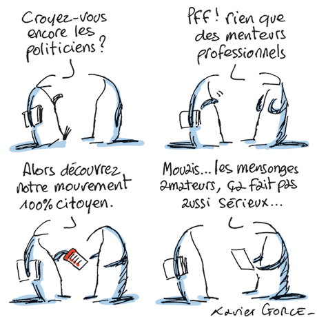 Dessin de Xavier Gorce www.lemonde.fr 15-09-2016