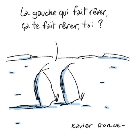 Dessin de Xavier Gorce - lemonde.fr - 25-1-2017