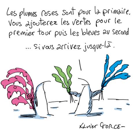 Dessin de Xavier Gorce www.lemonde.fr 9-01-2017